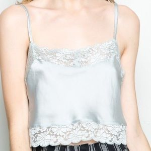 silky lace brandy Melville crop top